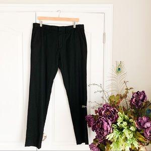 Men's 34 inch Wool Calibrate Slim Fit Dress Pants